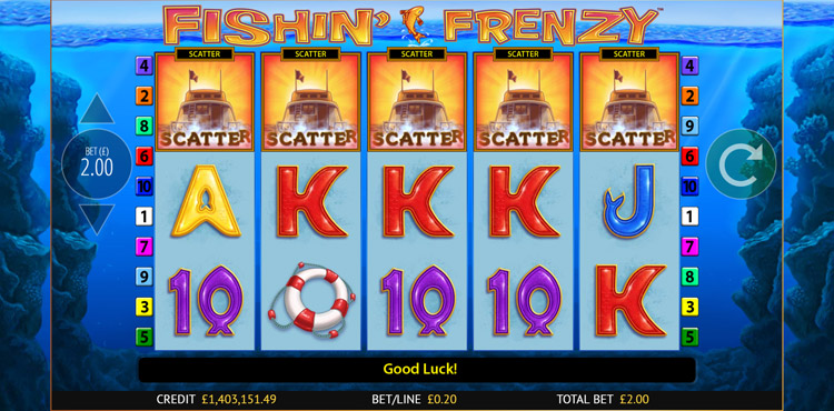 Online Casino Fishin Frenzy